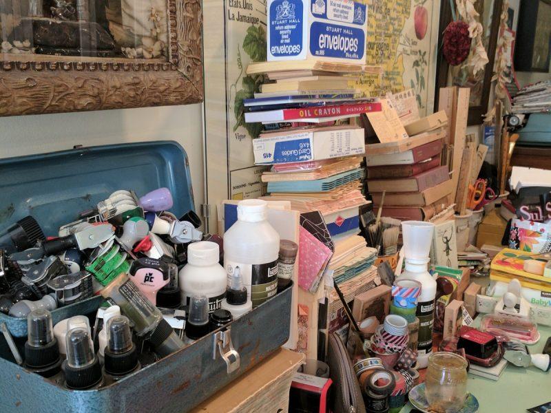 Pamela's desk