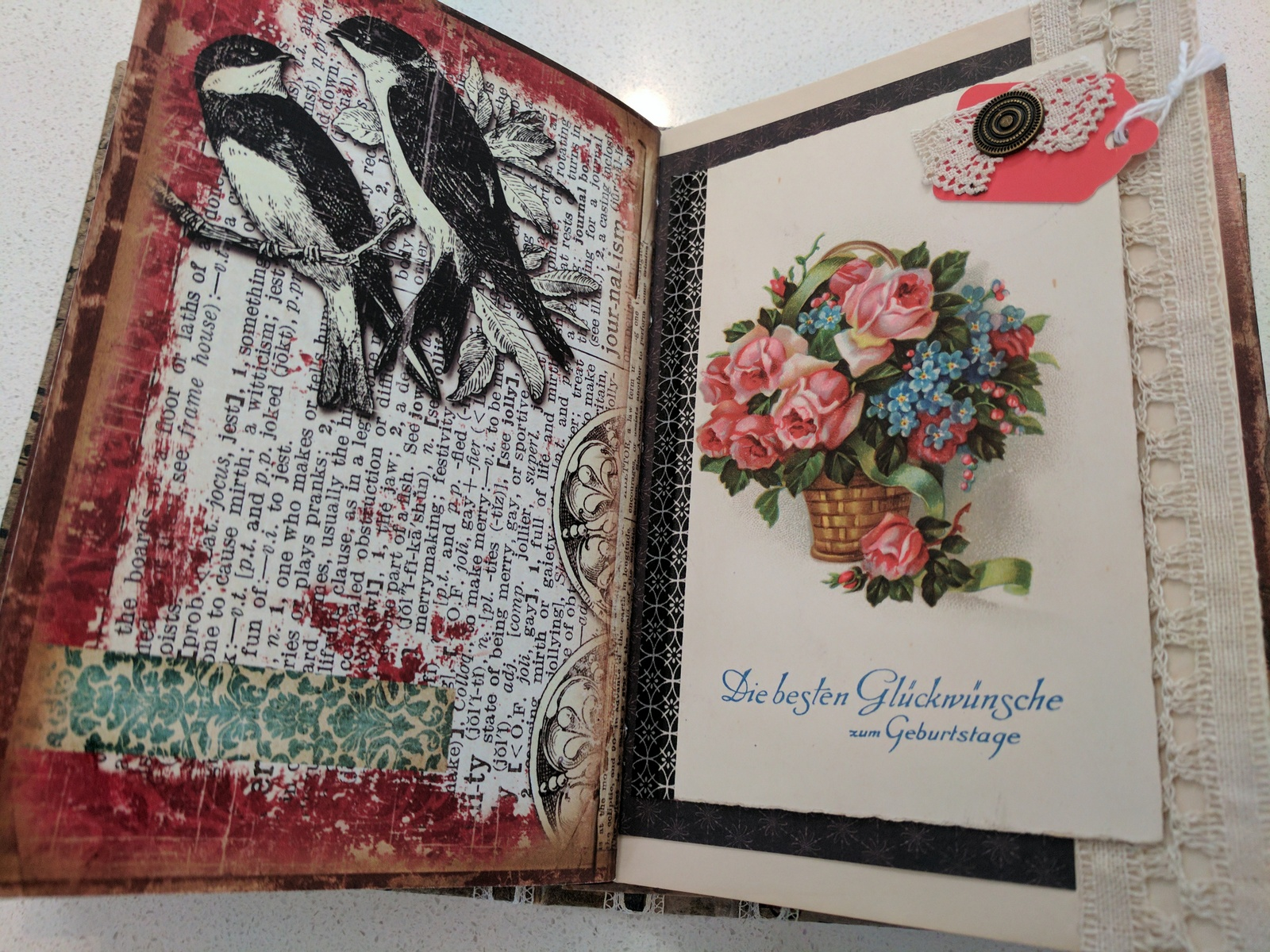 Collage art journal