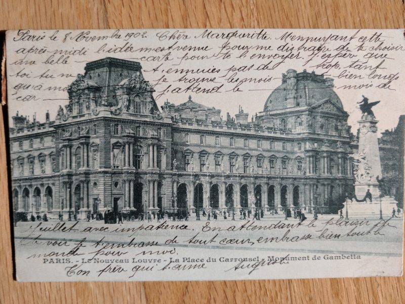 postcard architecture and writing