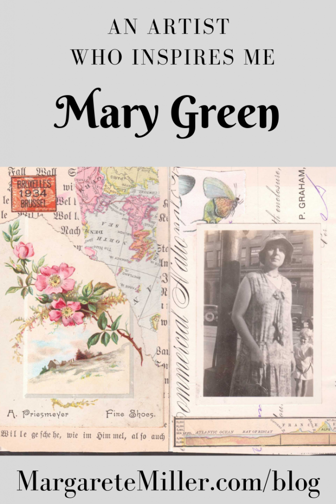 A vintage gluebook page by Mary Green