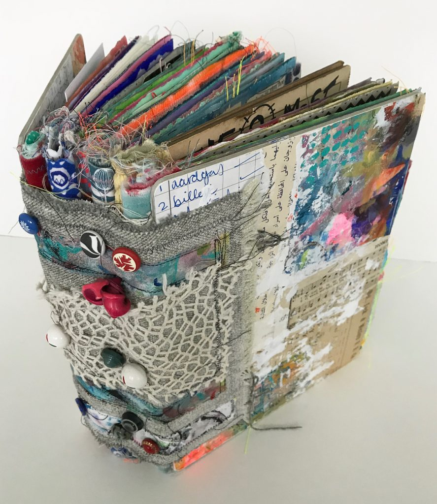junk journal made from fabric