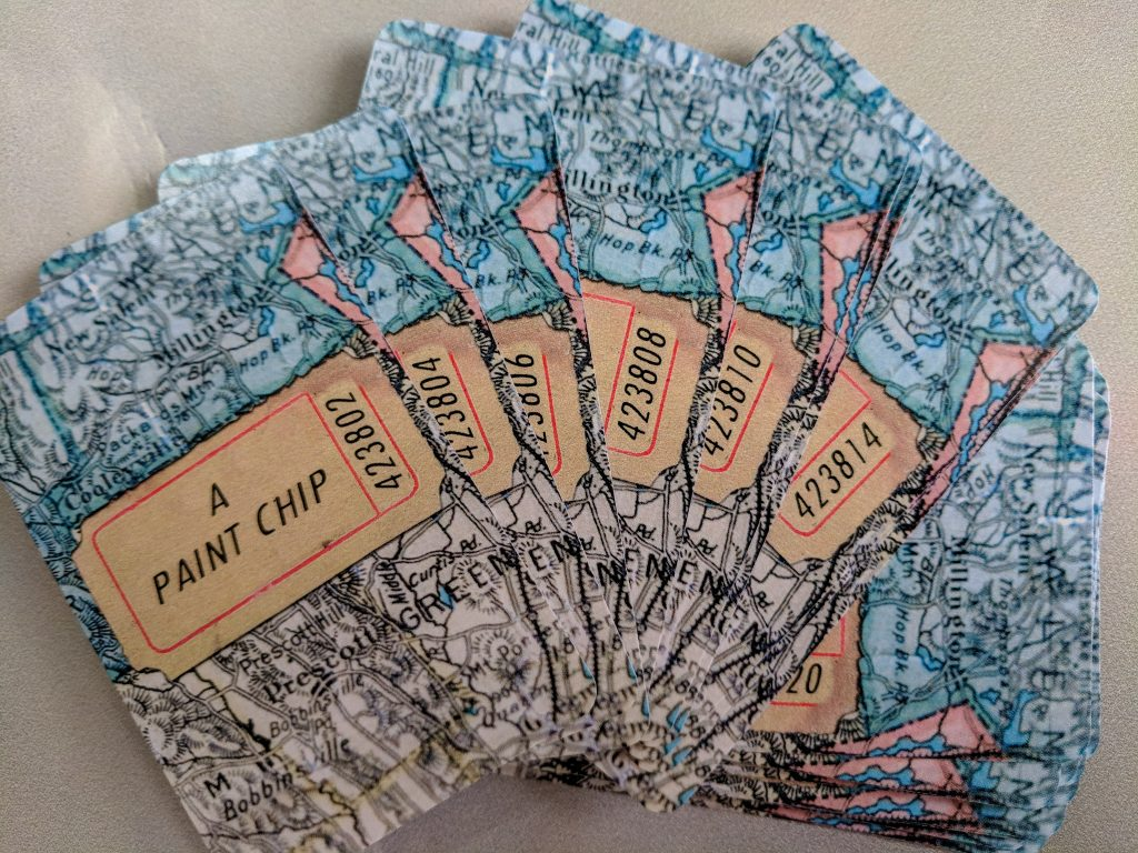 deck of collage prompt cards