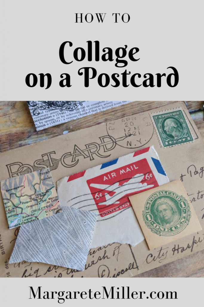Poster for How to Collage on a Postcard