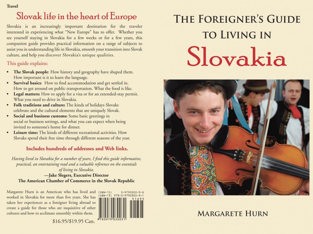 A Slovak violinist is depicted on the cover of this Slovakia travel guide