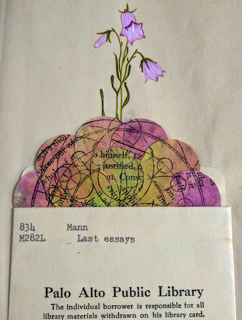An altered borrowers card from a discarded library book