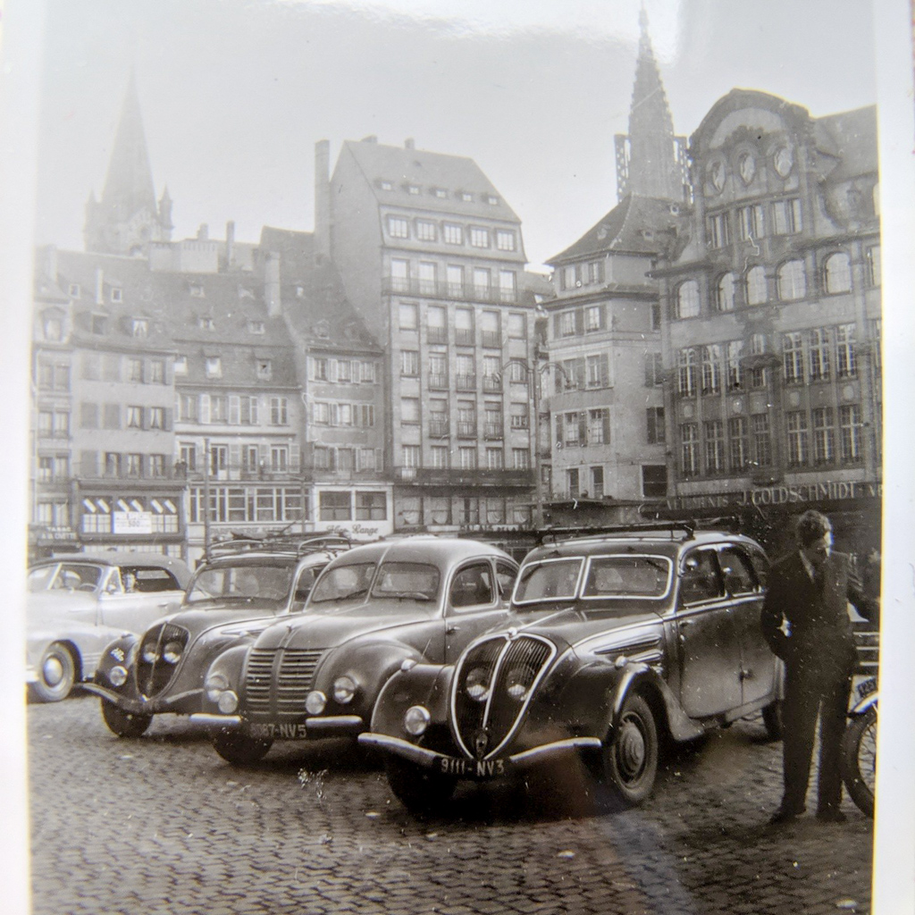 A close up of a vintage 1930s photo