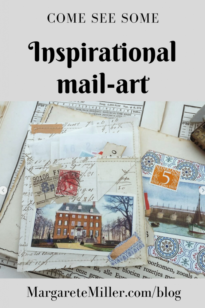 A pinterest pin for inspirational mail art