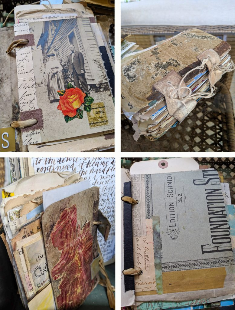 Some examples of Michelle's journal pages and covers