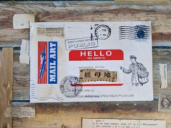 A mail art letter invitation